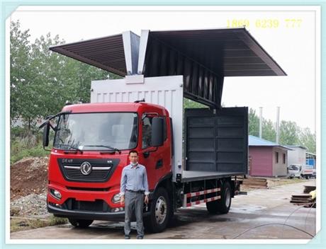 厢长6.2米,6.8米国六飞翼车,东风翼开启厢式车价格