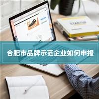 2020年合肥市品牌示範企業申報好處和申報條件