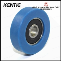 6206包胶轴承 聚氨酯滑轮带轴不绣钢螺杆608滚轮静音耐磨导向轮