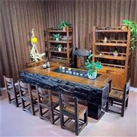 老船木茶桌实木功夫泡茶台中式简约茶几室内外茶台船木家具组合