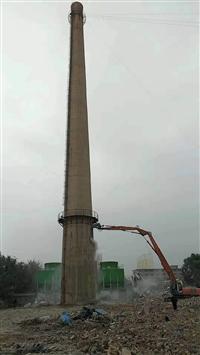 白银烟囱拆除公司,白银人工拆除砖烟囱,白银人工拆除混凝土烟囱