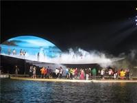 温泉景观造雾 景观人沐鸣娱乐2彩票造雾设备
