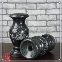 汉白玉石雕花瓶 大理石石头花瓶 仿古花瓶摆件