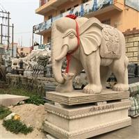 石雕大象图片 汉白玉石大象 福建石雕大象 惠安石雕厂