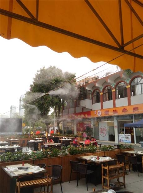 喷雾降温工程安装 喷雾降温 户外餐厅喷雾降温