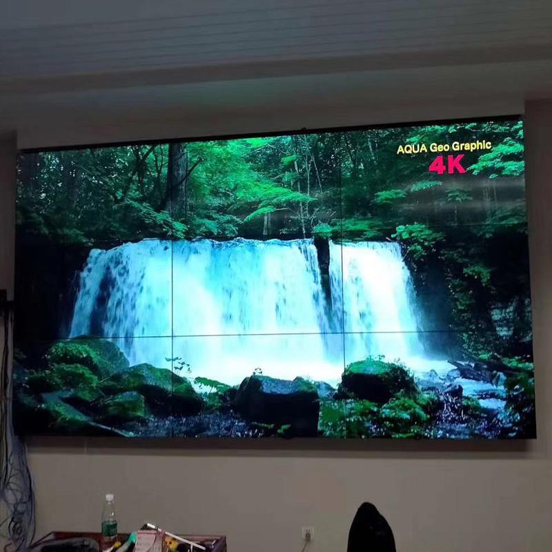 江西55寸液晶拼接屏_网咖KTV大屏幕无缝监控led电视墙