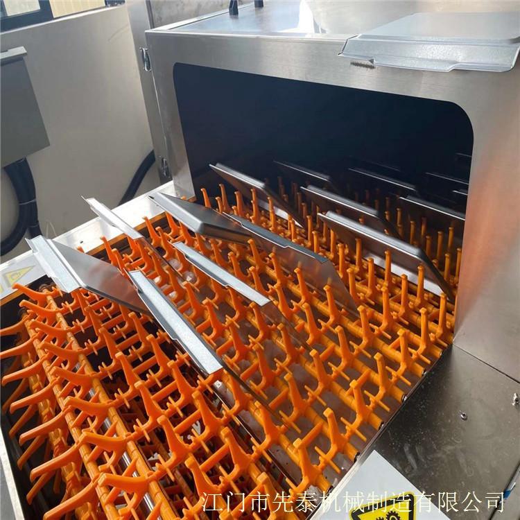 餐具喷淋清洗机 不锈钢烤盘自动除油清洗线