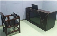 木质软包审讯用桌/讯问室桌椅