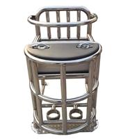 审讯椅,软包型不锈钢审讯椅