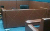 检察院软包审讯室桌 公安专用办案桌规格型号