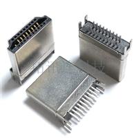 HDMI插板19PIN母座直立式 四脚插件DIP hdmi高清接口连接器