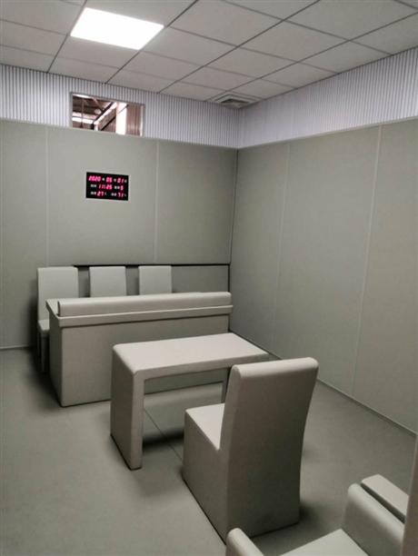 市监委审讯室软包墙面-防撞建设新材料