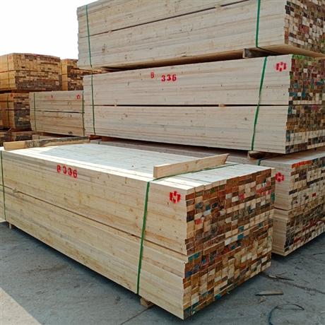 白松木方 批发工地方木 建筑工程用建筑方木料 俄罗斯白松木方
