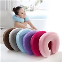 有货厂家批发u型记忆枕 卡通护颈枕旅行枕 多功能两用枕批发