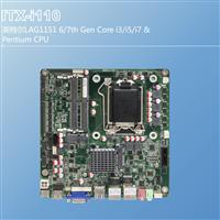 ITX一體機主板集成H110芯片支持寬壓輸入雙intel網口帶LVDS