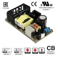 PCB安装5V和24V医用明伟MW两路双输出开关电源RPD-60B