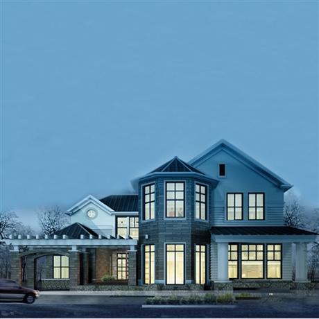 轻钢别墅厂家 绿筑装配 轻钢别墅按平米造价 别墅包装修