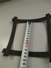 双向钢塑格栅幅宽  凸结点钢塑土工格栅