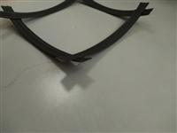 双向钢塑格栅环保  凸结点钢塑土工格栅