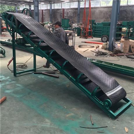 有机肥料装卸车皮带输送机 高度可调升降式爬坡输送机zcjb