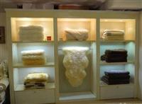 从事 成都家纺展柜展架展示柜货柜 成都床上用品展柜货柜定做厂家