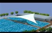 泳池膜结构适用于 大型露天游泳池 沙滩景观棚