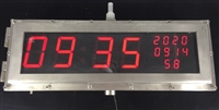 不锈钢LED防爆时钟
