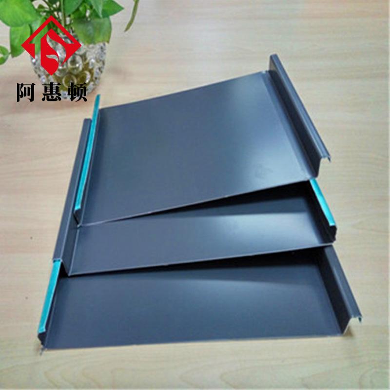 浙江厂家 32-310矮立边铝镁锰屋面板 别墅工程金属屋面板