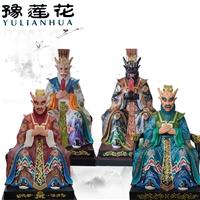 龍王老爺神像圖片 五龍奶奶神像 泥塑玻璃鋼雕塑龍王廟神像