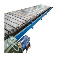 304不锈钢链板转弯机 铁板链输送机加厚 六九重工链板运输机