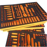 厂家可定制eva内衬化妆品eva成型 工具箱海棉内衬防静电包装