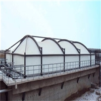 污水池膜结构厂家定制 加盖污水池膜结构工程 沼气池