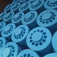 定制蓝色eva异形切割海绵玩具成型 eva钻孔泡棉包装盒子
