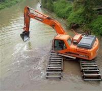 湖北黃岡水上挖機出租規格-