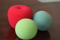 海绵话筒套批发 定制聚氨酯彩色海绵套 会议海绵话筒罩