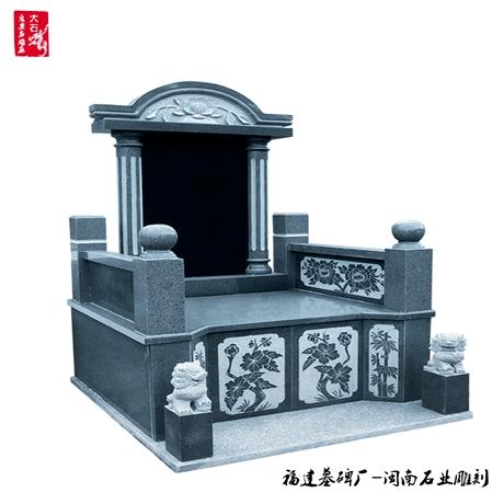 传统墓碑  订制石材芝麻黑墓碑