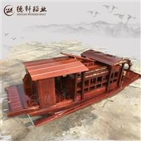 内蒙古阿拉善盟能下水的9米红船复原