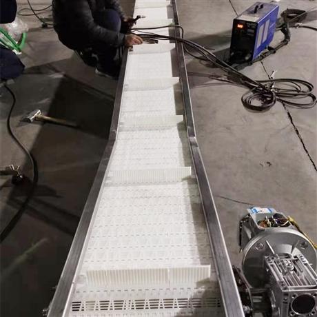 塑料链板爬坡机-食品塑料链板爬坡输送机厂家