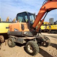 新疆二手小型轮式挖机斗山DX60原版原漆2015年底产手续齐全