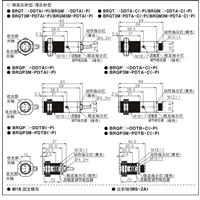 autonics光电接近开关IP67防水超短型传感器BRQP100