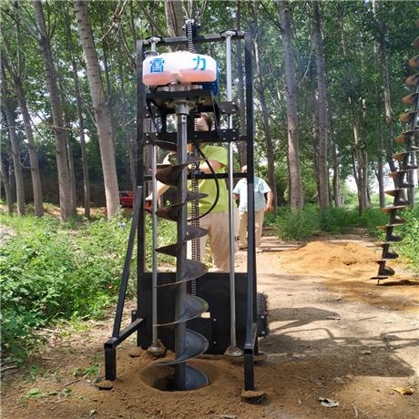 轻型电力栽杆打洞机新型挖坑设备