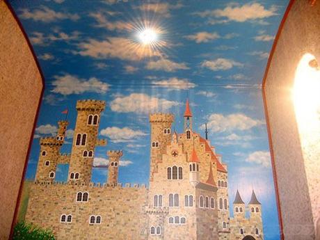 江苏手绘墙画壁画 常州校园墙体彩绘图