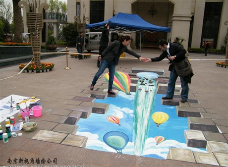 南京3D地画彩绘 江苏立体画手绘2