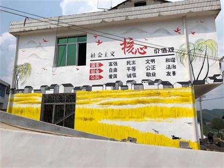 江苏南京文化墙彩绘CH-2 可现场墙体手绘图