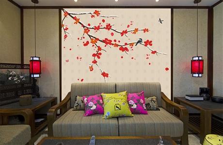 南京别墅样板房手绘墙壁画BH 墙绘价格