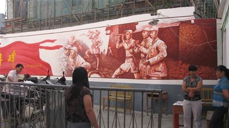99江苏学校围墙墙画 南京校园外墙墙绘