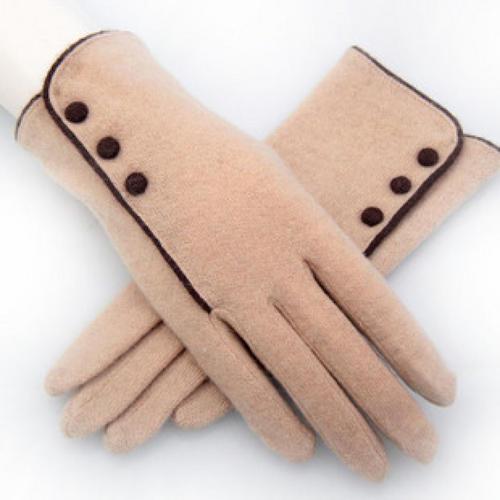 贵得厂家直销仿羊皮狗皮保暖手套