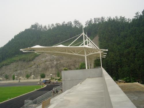 供应膜结构车棚  自行车棚 公园景观棚