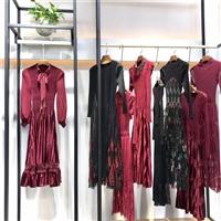 女装连衣裙批发 品牌连衣裙批发 品牌女装折扣尾货