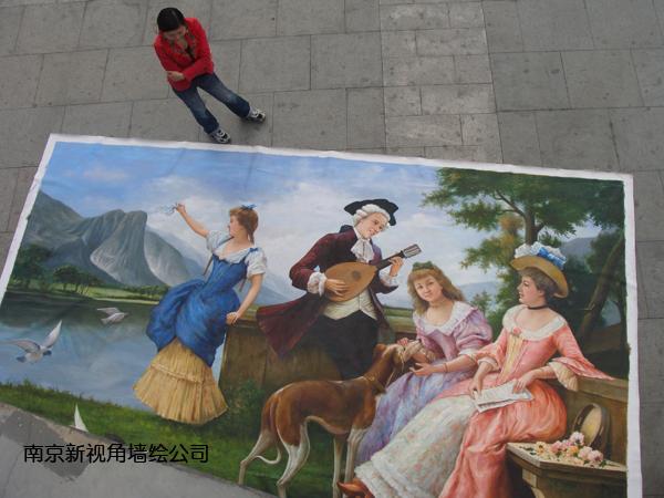南京油画定制DZ 南京大型油画定做厂家画室